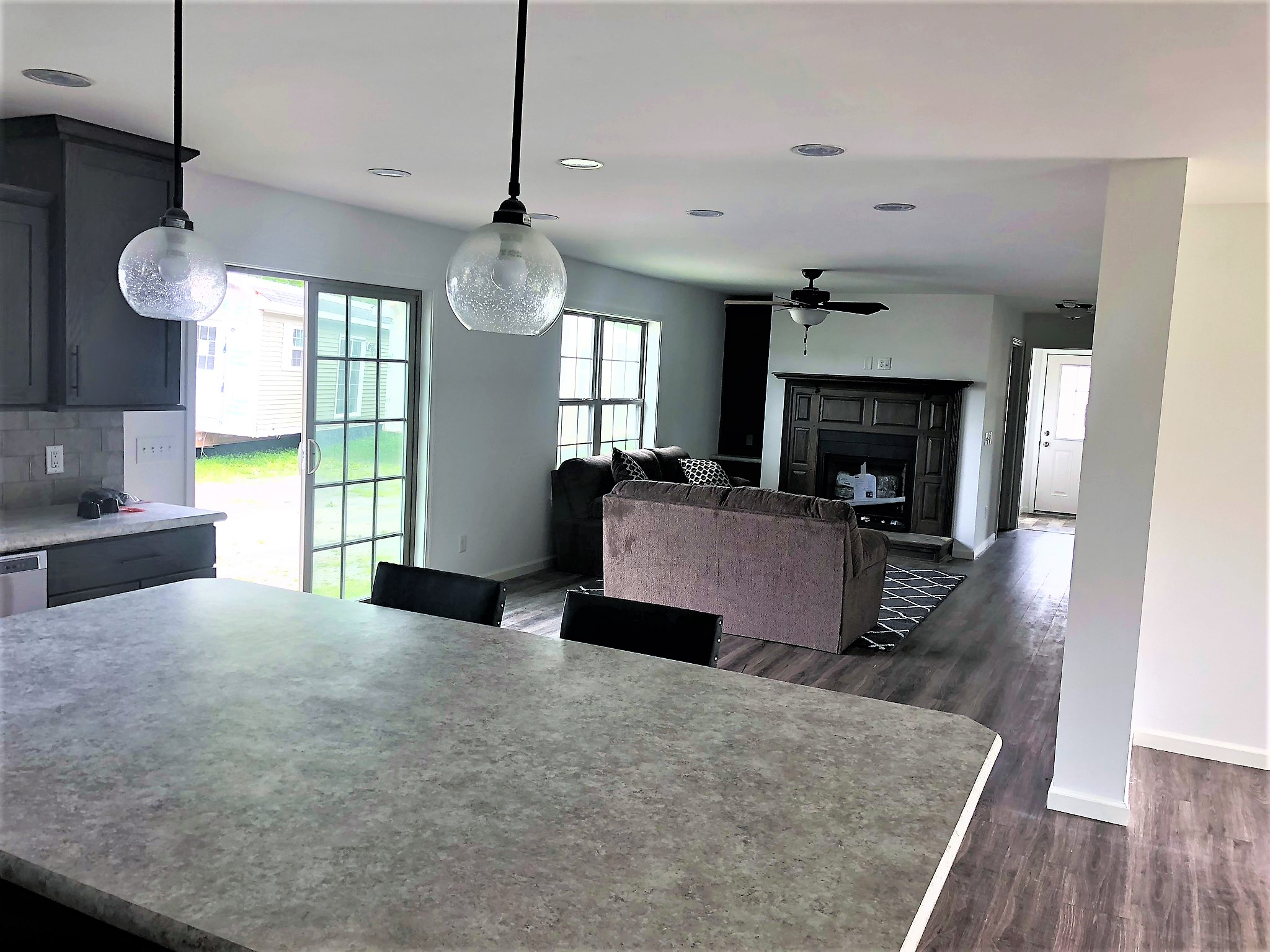 Picture Of The Family Room And Fireplace