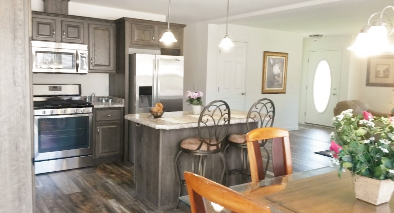 Kitchen and nook area