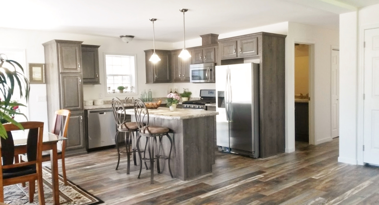 Displayed with stainless steel appliances